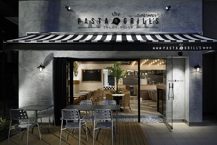 The Pasta & Grill's is located in Tenma Osaka, Japan where the various local restaurants & bars are dotted around the station. As its name tells, They serve tasty pastas and grilled beef. We tried to create the restaurant that looks like existing at the place long time.