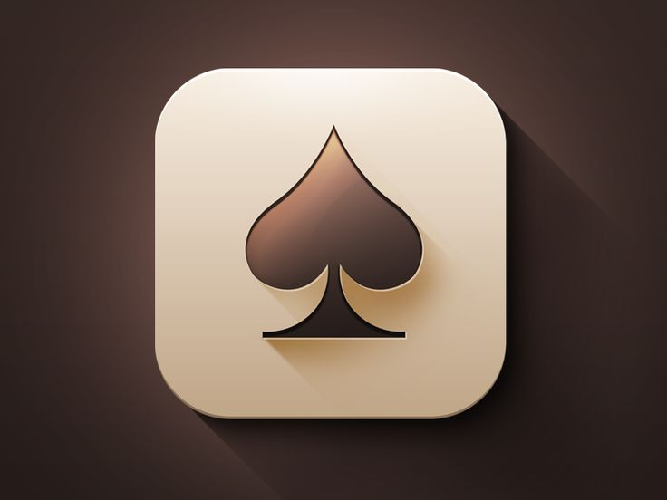 pinterest.com/fra411 #Apps #Icon - Spades Game IOS 7 Style App Icon