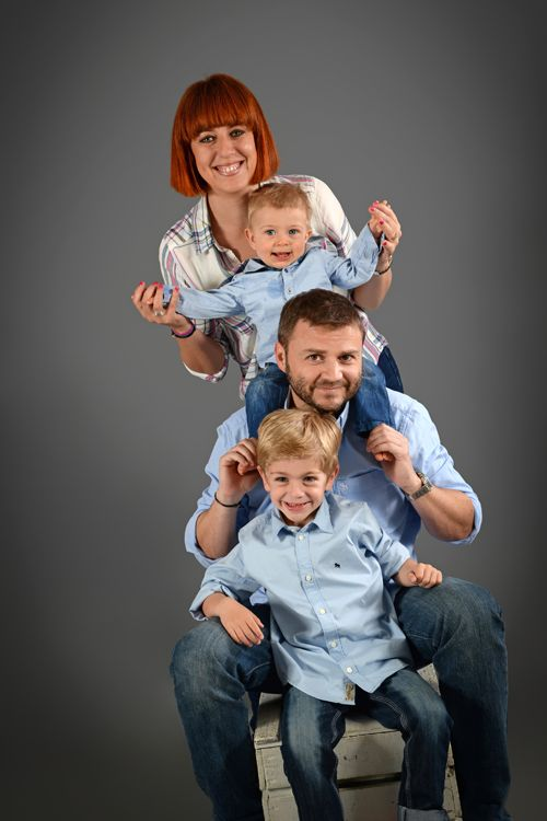 Photographe famille Lyon - Portraits enfants avec papa et maman - Family Photography - Studio Photo Gil