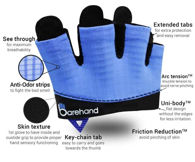 Barehand gloves - Minimalist gloves for lifting athletes