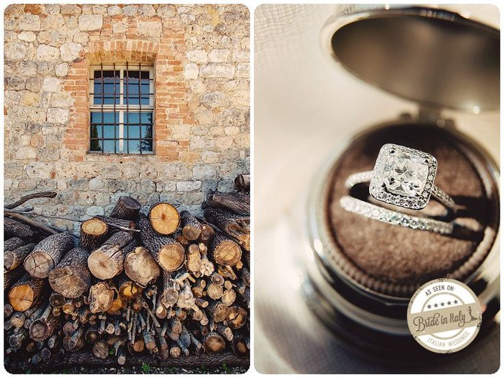 This ring shot is just lovely, very well done bokeh, ph Cristiano Brizzi http://www.brideinitaly.com/2013/09/brizzi-monteriggioni.html #italy #wedding