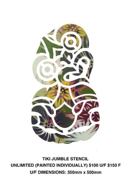 Tiki Jumble Stencil by Flox