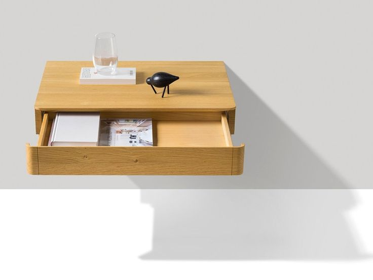 FLOAT Wall-mounted bedside table Float Collection by TEAM 7 Natürlich Wohnen design Kai Stania