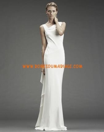 Nicole Miller belle robe de mariée 2012 longue originale mousseline