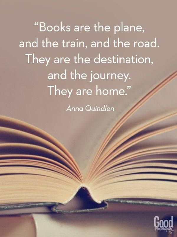 Books are the destination.