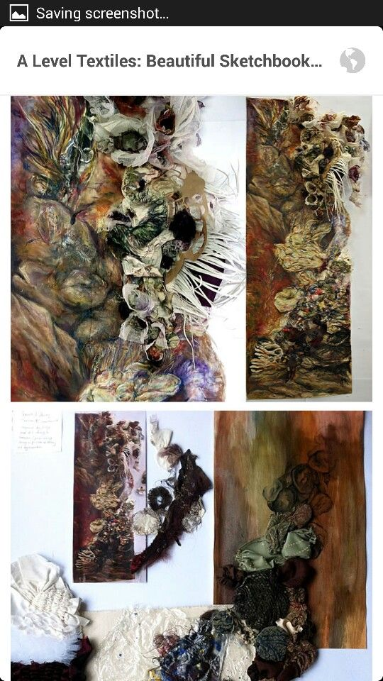 A level art textiles sketch book.