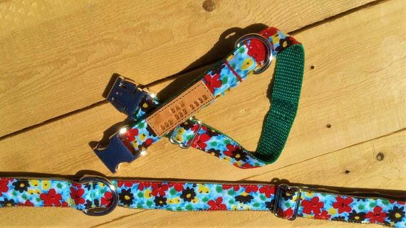 Dog collars with flowers flowers floral print female dog