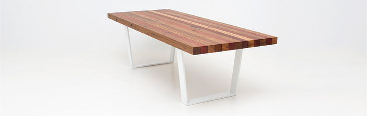 Cirrus Dining Table. Available in a range of reclaimed and sustainable timbers to suit modern house or apartment living. Price starts at $2950.