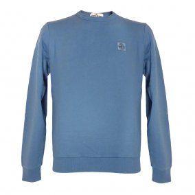 STONE ISLAND Blue Crew Neck Sweatshirt