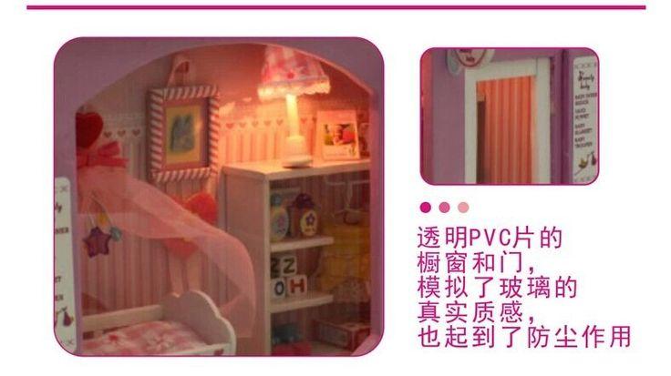 Красивый ребенок лампа дом DIY ручной кукольный домик, Строительство модель, Ручной работы творческих игрушки, Поделки ручной работы хижина комплекткупить в магазине Fashion Shop 7наAliExpress