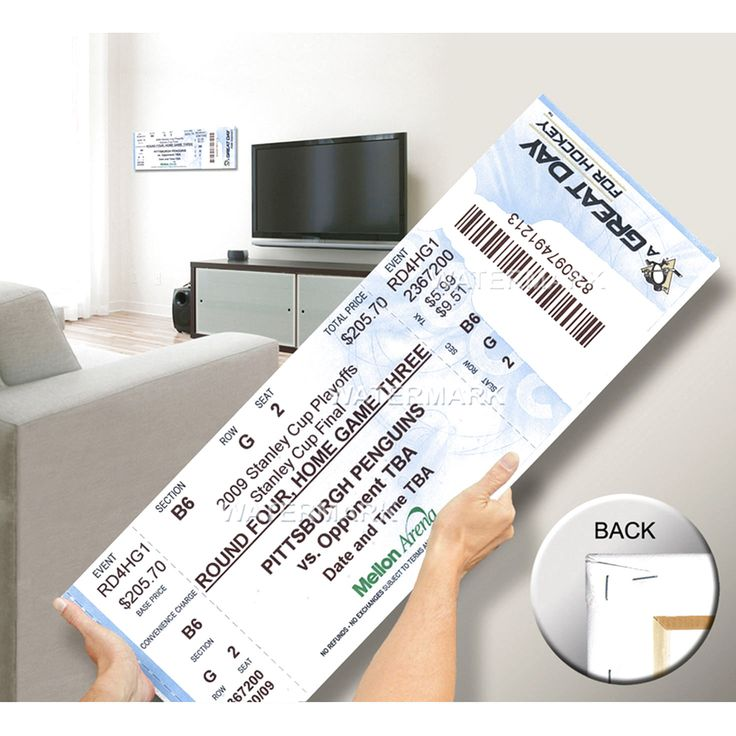 Pittsburgh Penguins 2009 NHL Stanley Cup Champions Mega Ticket - $63.99