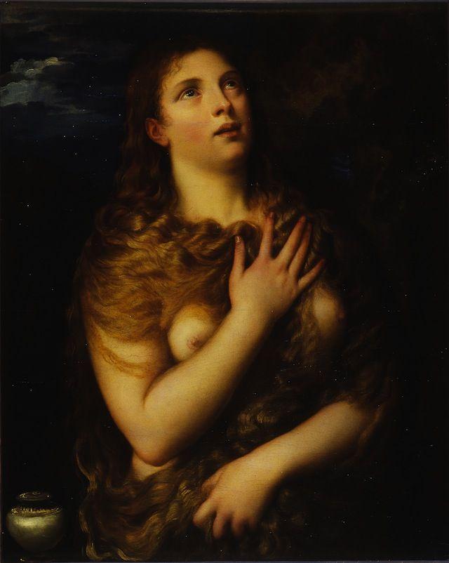 Titian - Mary Magdalen - 1530 - Oil on Board - Galleria Palatina di Palazzo Pitti Firenze © Ministero per i Beni e le Attività Culturali