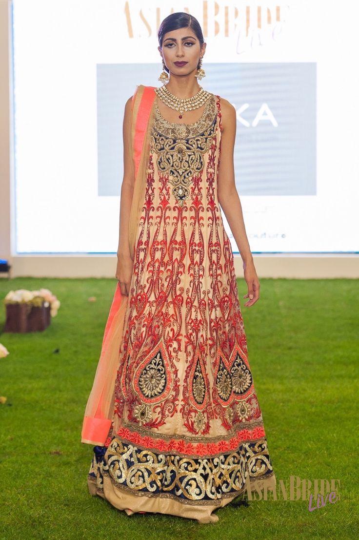 Red & cream embroidered Bridal lengha Malika-INDIAN-PAKISTANI-WEDDING-FASHION