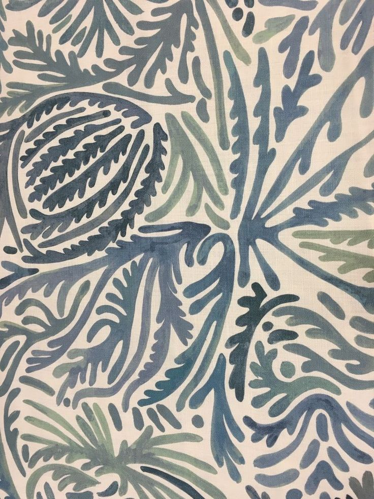 Clarence House Astract Print Upholstery Fabric- Andros/Blue (34559-2) 1.60 yd #ClarenceHouse