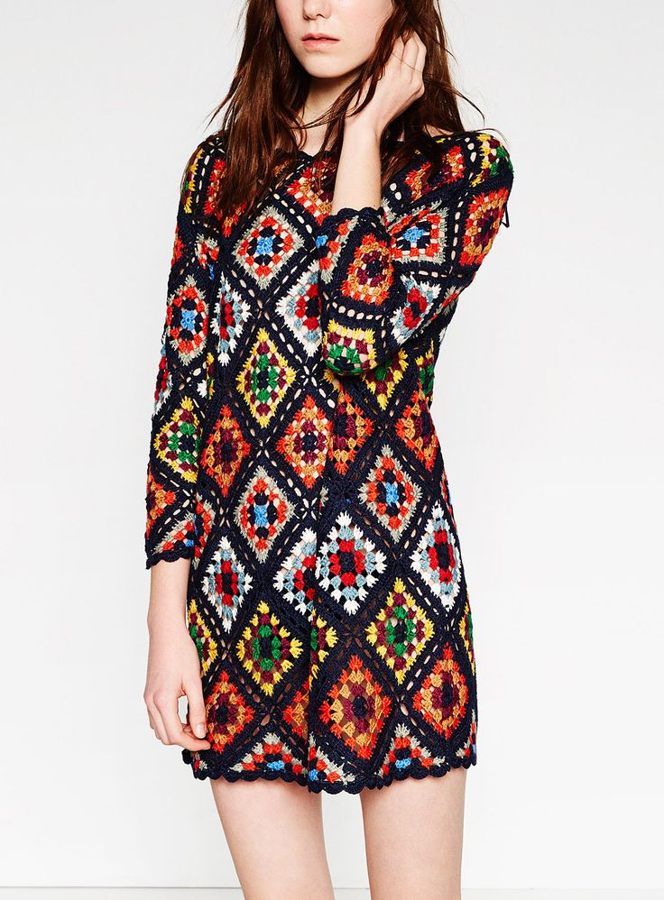 Image of Zara crochet mini dress