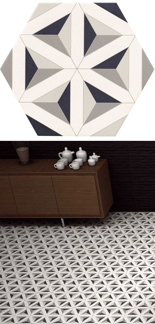 The Malmoe Hexagon Collection by Realonda Ceramica. This contemporary and trendy collection is suitable for indoor and outdoor use.