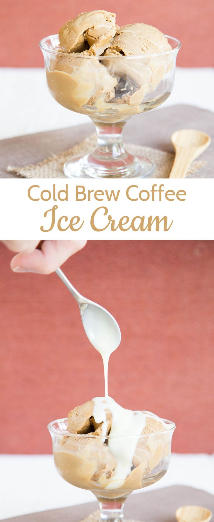 Enjoy this cold brew coffee ice cream for a smooth and tasty ice cream. Delicious at any time of year, but particularly good in the summer.