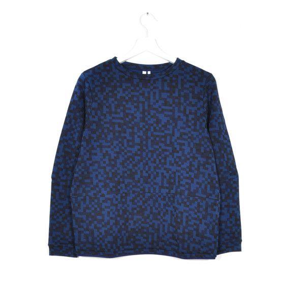 READY TO FISH Tulipa Blue Melange Sweater | La Luce