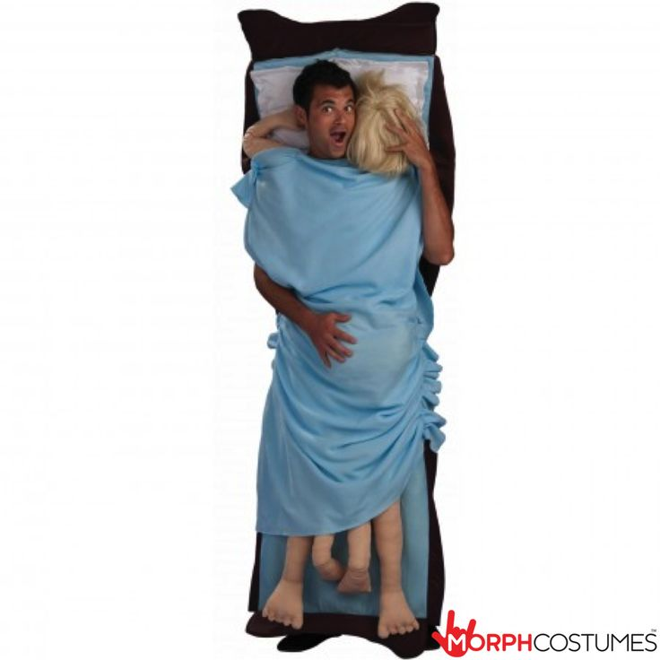 Funny Fancy Dress Costumes: Guys, this will be the only time in your life where you START the party by sleeping with someone, so really, the pressure's off!