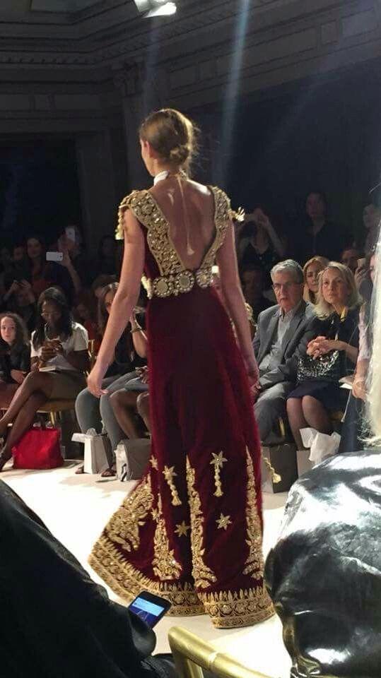 Algerian Fashion: Gandora dress