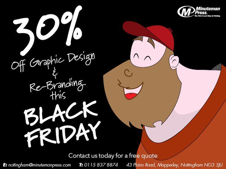 30% off Graphic Design & Re-branding this #blackfriday #design #blkfriday #printing #printdesign #graphicdesign #deal #savings #Nottingham #Minutemanpress