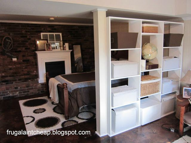 I like this divider between the support & the wall  Frugal Ain't Cheap: Basement remodel