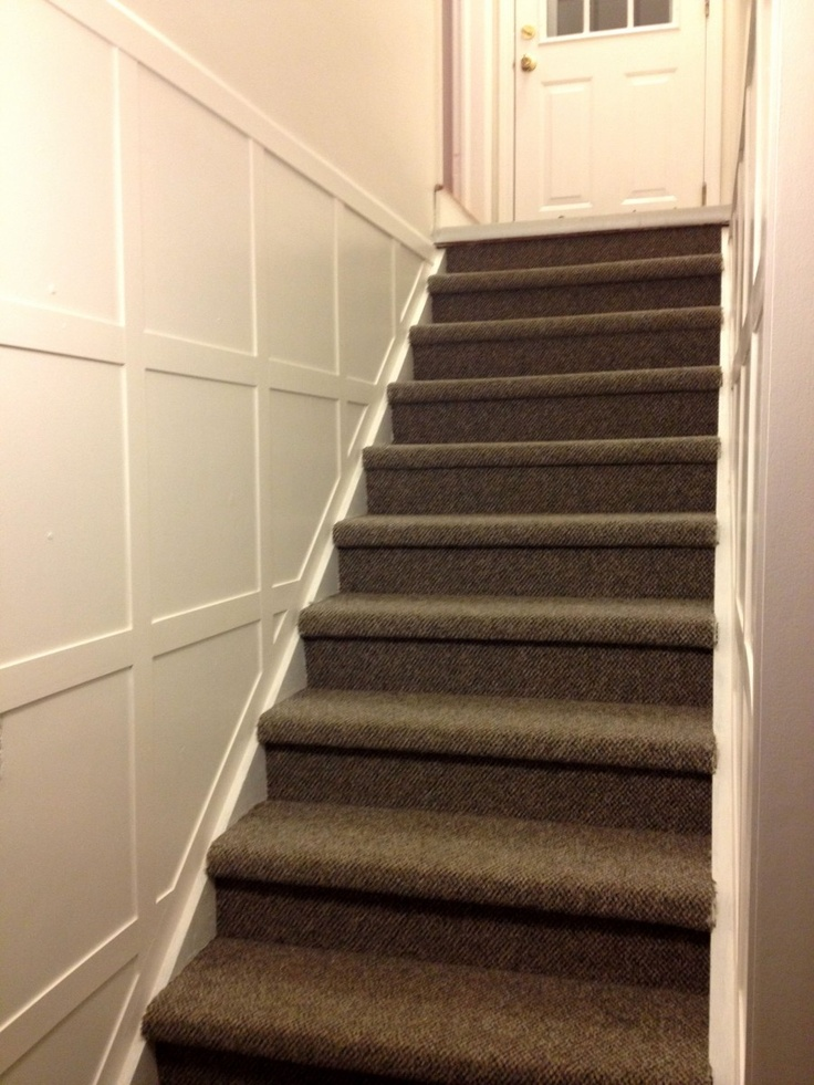 Basement Stairs Ideas: Stair Molding DIY - Tutorial, Supplies List
