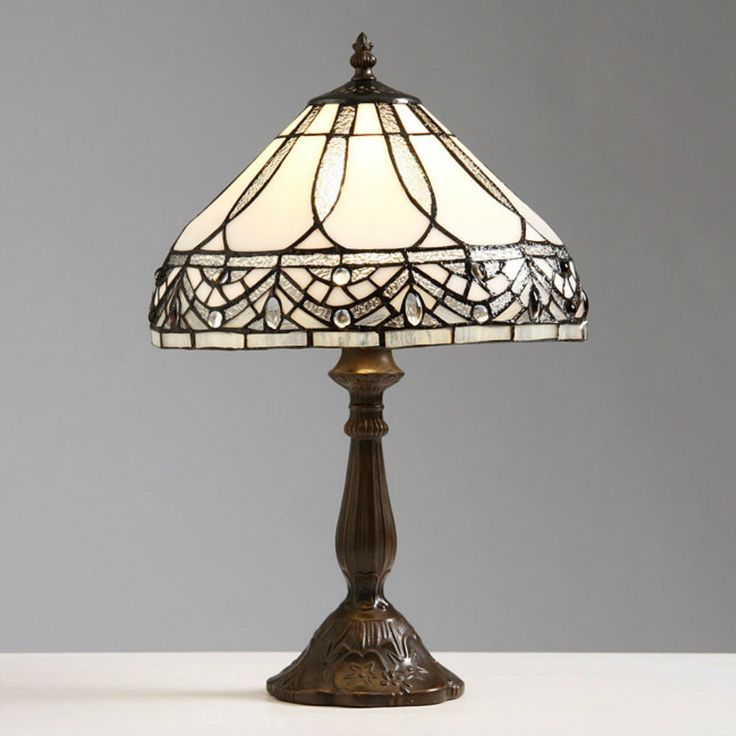 Table Lamps For Living Room Bedroom End Table Lamp Vintage Stained Glass  Reading