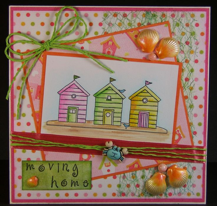 Designed by Allison Hugill using Little Claire digi Beach Huts stamp