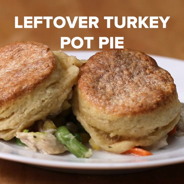Leftover Turkey Pot Pie .. in skillet quick and easy..also how to make homemade biscuits to top it off -Tasty