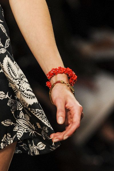 Stack the Gold & Coral!  Isabel MarantSpring Summer 2013.   #jewelry #trends