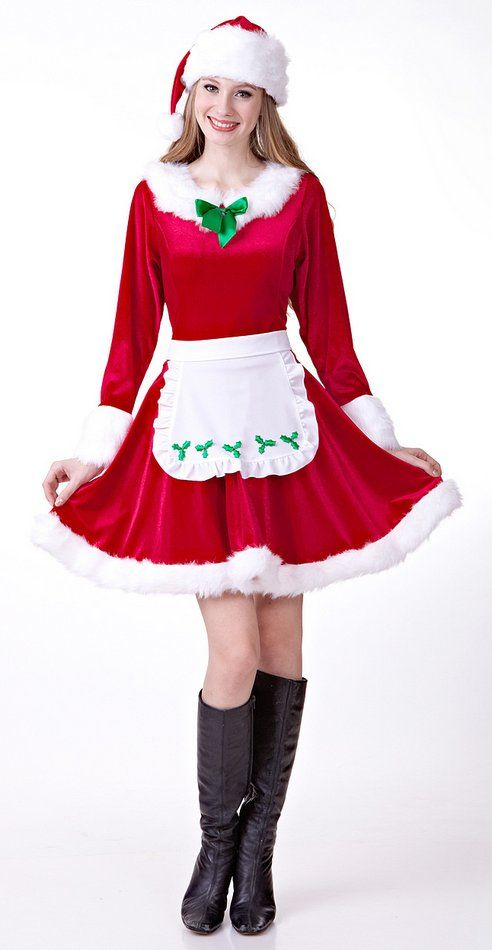 Deluxe Women's Mrs. Santa Claus Costume - Candy Apple Costumes - SantaCon Costumes