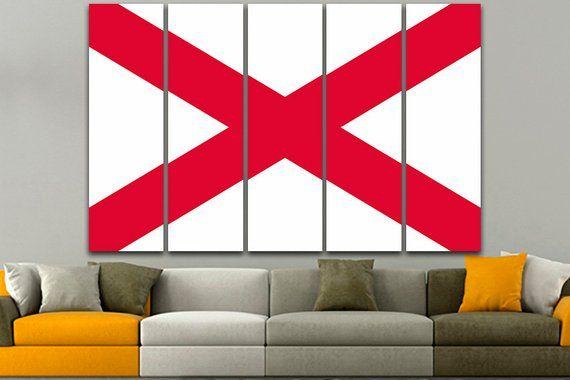 Alabama Flag United States Alabama Flag Print Alabama Flag Etsy In 2020 Photo Wall Art Office Decor Print Art Photo Prints