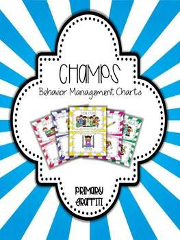 Behavior Management Charts {CHAMPs Aligned) | Created to align with CHAMPs Behavior Management Program created by Randy Sprick | by Teacher-Author Primary Graffiti