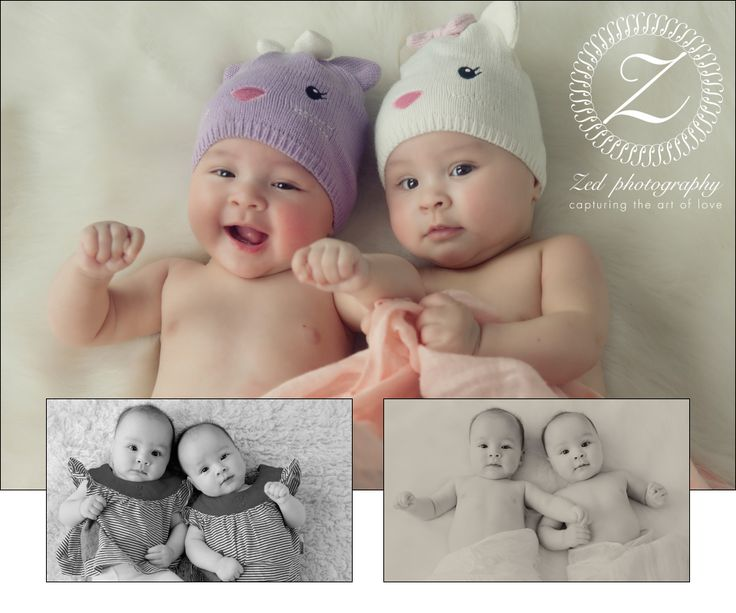 "Gorgeous Twins Zara & Maya 5 Months Old.  Will be entering into second book ""Multiples"" www.zedphotography.com.au"