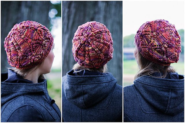 Diamondberry is knitted from Malabrigo Rios yarn. Malabrigo Rios has some gorgeous colorways in a beautiful mix of semi-solids and variegated mixed – pick any color you like and the result is stunning!