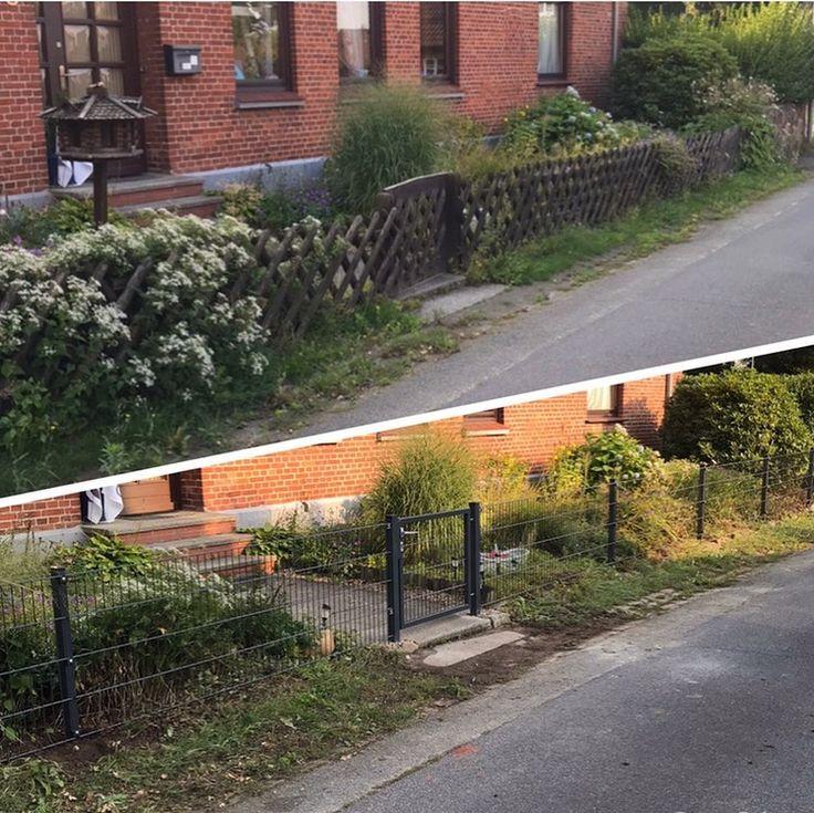 Auf Wunsch des Kunden wurde in diesem Fall der alte Zaun durch einen …   – Gartenzaun