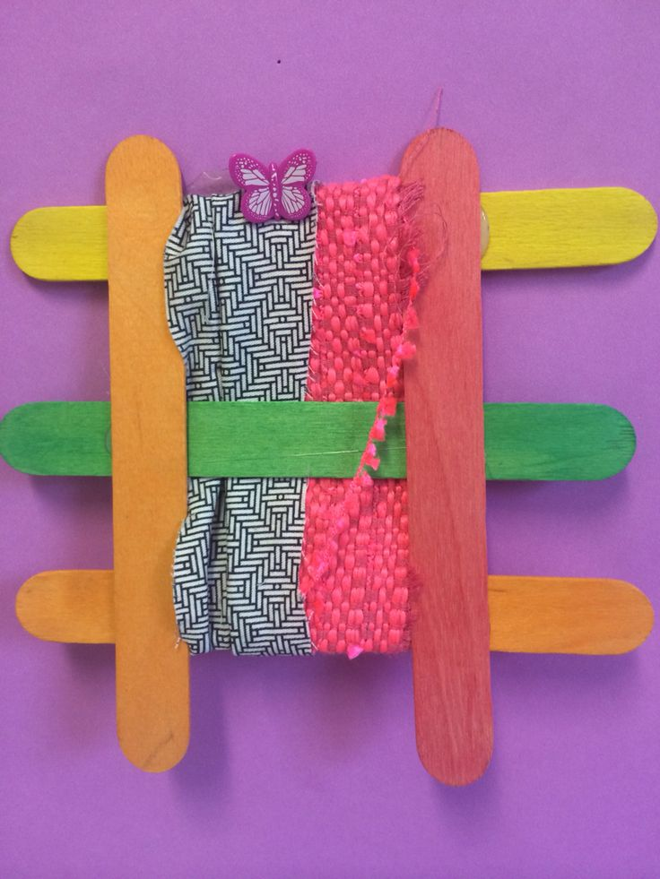 Weaving with fabric