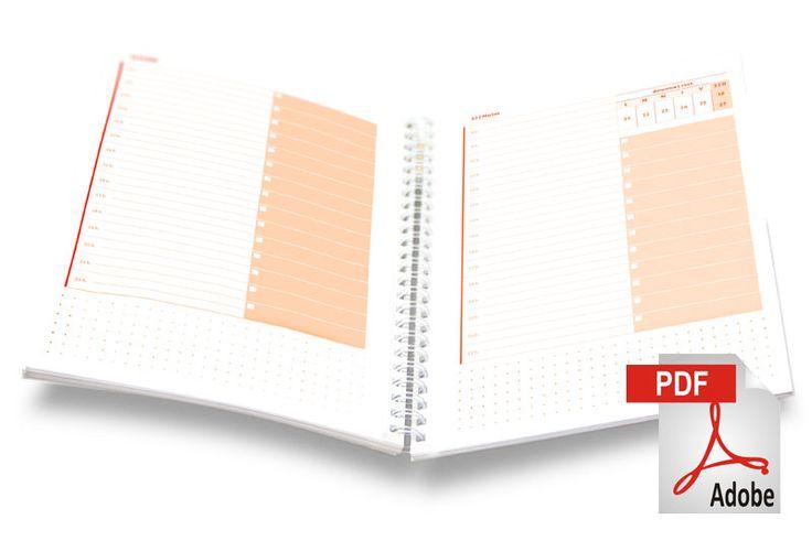 agenda diaria pdf