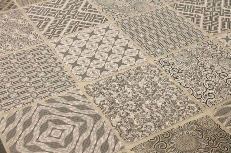 Lieve patchwork vloertegels in 20x20 getrommeld (LT), Tegelhuys