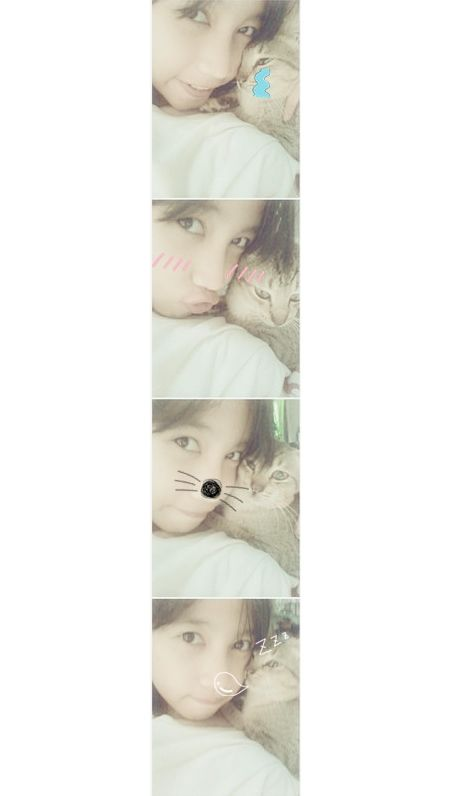 with my cat<3