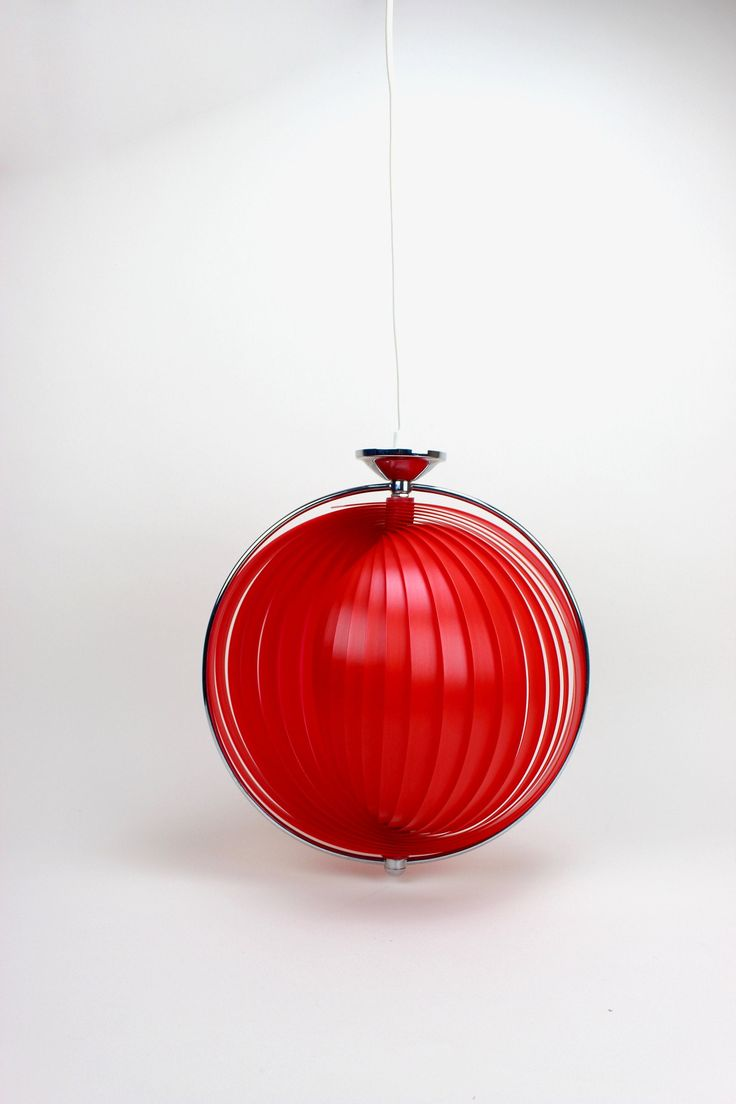 Reserved for Laura Vintage Moon Lampe Rot Deckenlampe ...