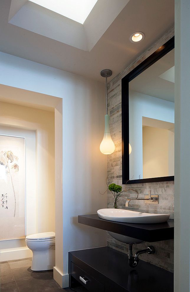 Modern makeover by peter vincent architects guest bath for Bathroom remodel 32828