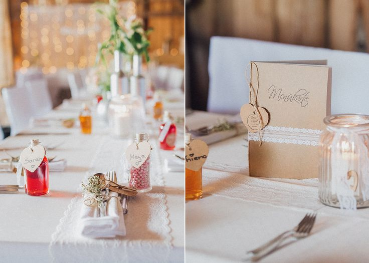 Glück - Fotostudio R. Schwarzenbach/Atelier Christine  menü karte essen decoration wedding meals sweets details lights vintage shabby hearts lovely barn deko accesoirs candle