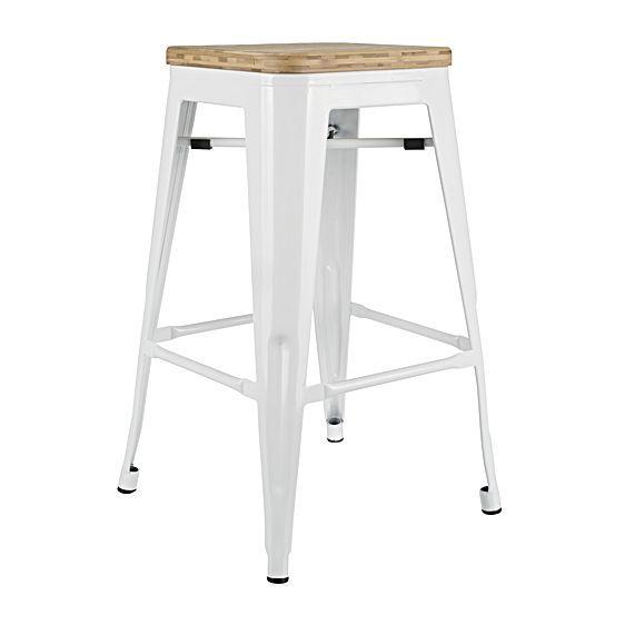 Replica Tolix Wooden Seat Bar Stool by Replica Xavier Pauchard