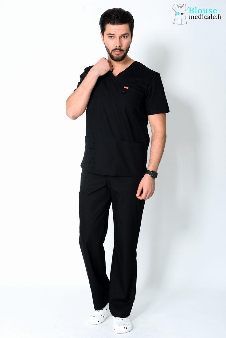 tenue médicale unisexe Orange noir