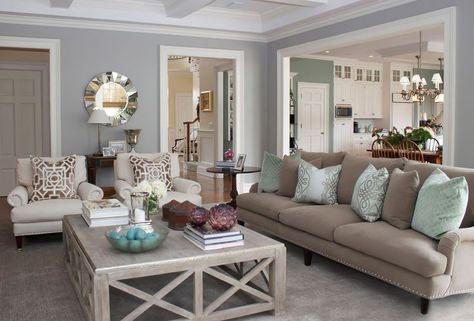 Living room - relaxing colours & tones (beige, cream, sage)