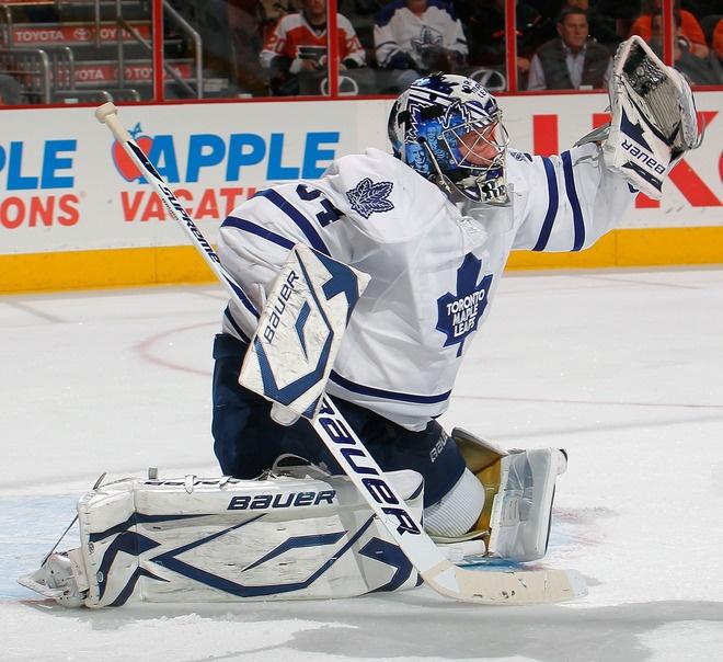 Not a fake glove save by James Reimer - Hockey Goalie