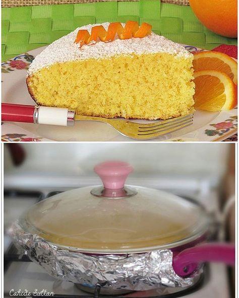 Bu da benim tavada kek tariflerimden biri. Ben bu işi çok seviyorum. Bir kek için koca fırını çalıştırma derdi yok Bu kek 6 kişilik aileme küçük bir atıştırmalık oldu sadece İsteyenler 3 yumurta kullanarak büyük tavada yapabilirler.  TAVADA PORTAKALLI KEK Malzemeler 2 yumurta 1 su bardağından 1 parmak eksik şeker 1 çay bardağının üçte ikisi oranında zeytinyağı 1 çay bardağı portakal suyu 1 tatlı kaşığı portakal kabuğu rendesi 1 çay kaşığı zerdeçal 1 çay kaşığı.....