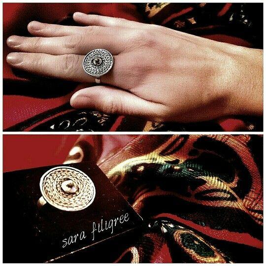 Handmade silver filigree ring...